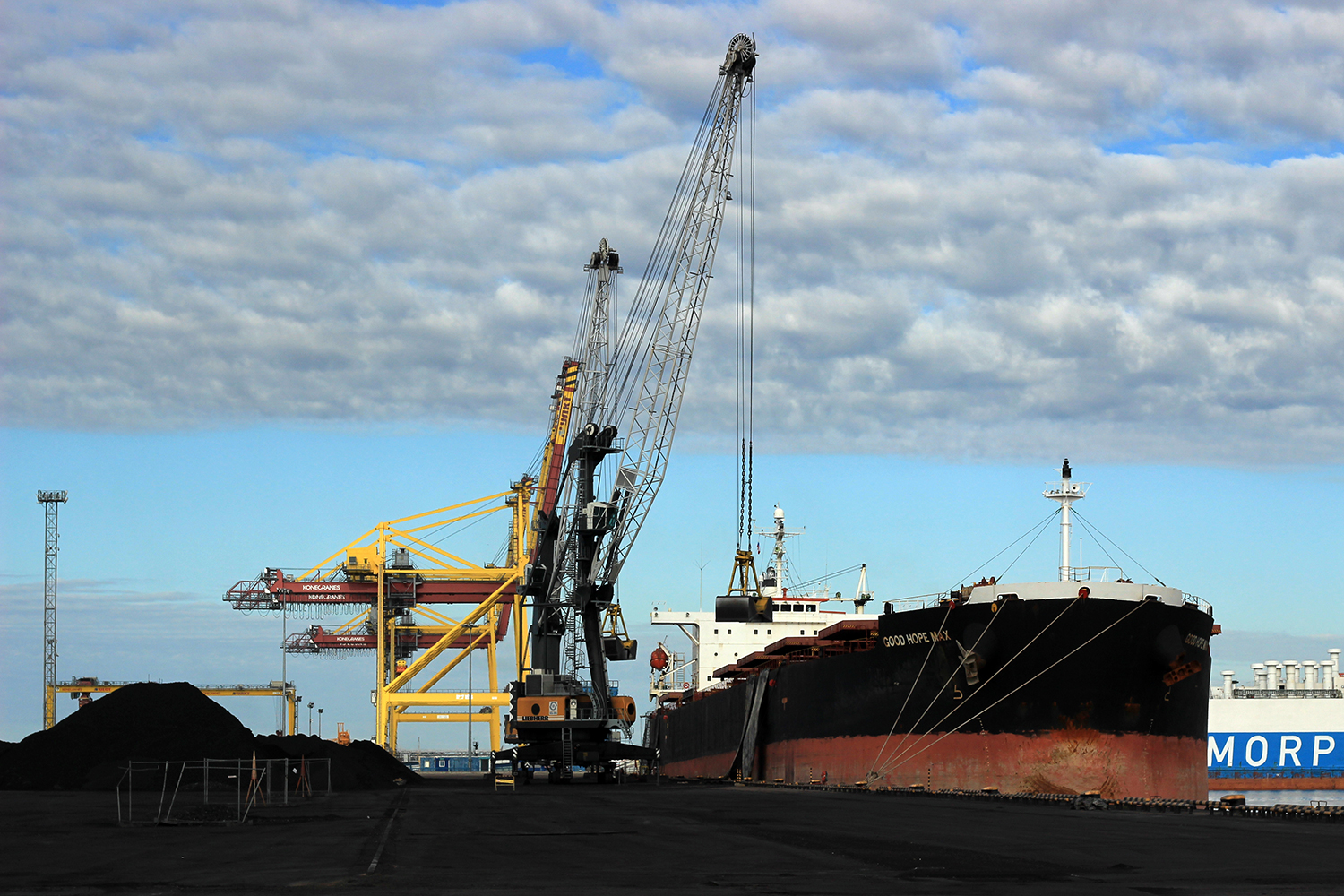 Ust-Luga Sea Commercial Port in Russian Baltic
